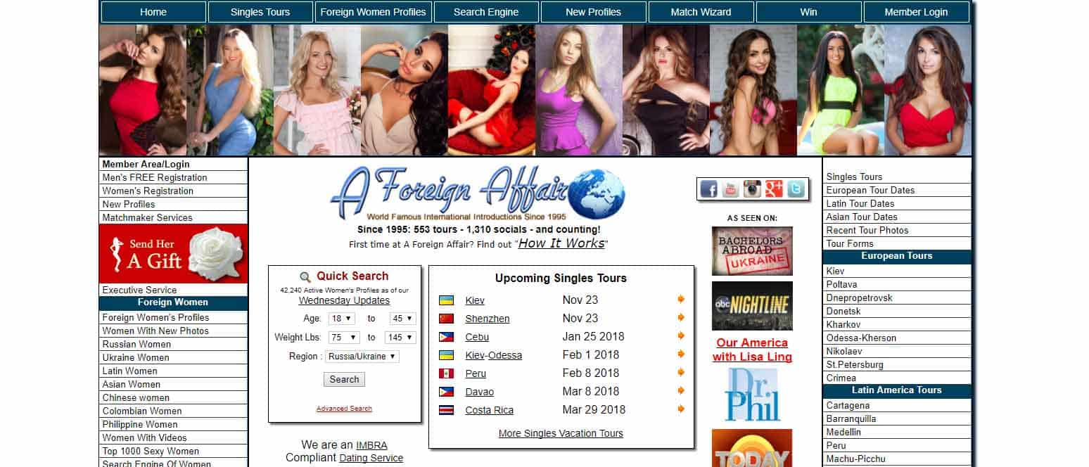 A foreign affair dating service